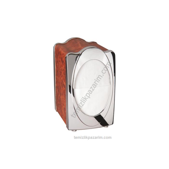 Ahşap-krom-dispenser-peçete-aparatı