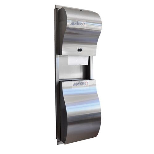 Rulopak-kombine-ankastre-sensörlü-havlu-makinesi