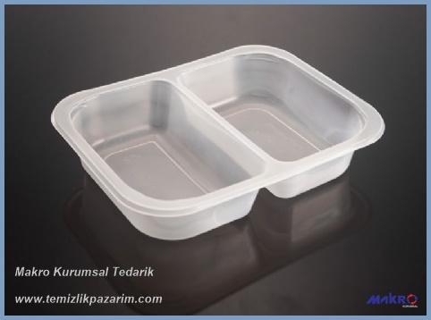 İki-bölmeli-plastik-yemek-kabı-şeffaf