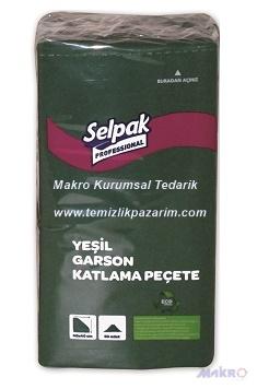 Selpak-garsonkatlama-peçete-yeşil-40cm